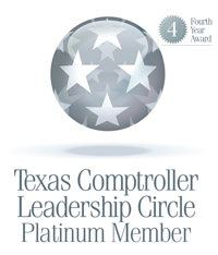 Texas Comptroller Leadership Circle Platinum Member Fourth Year Award